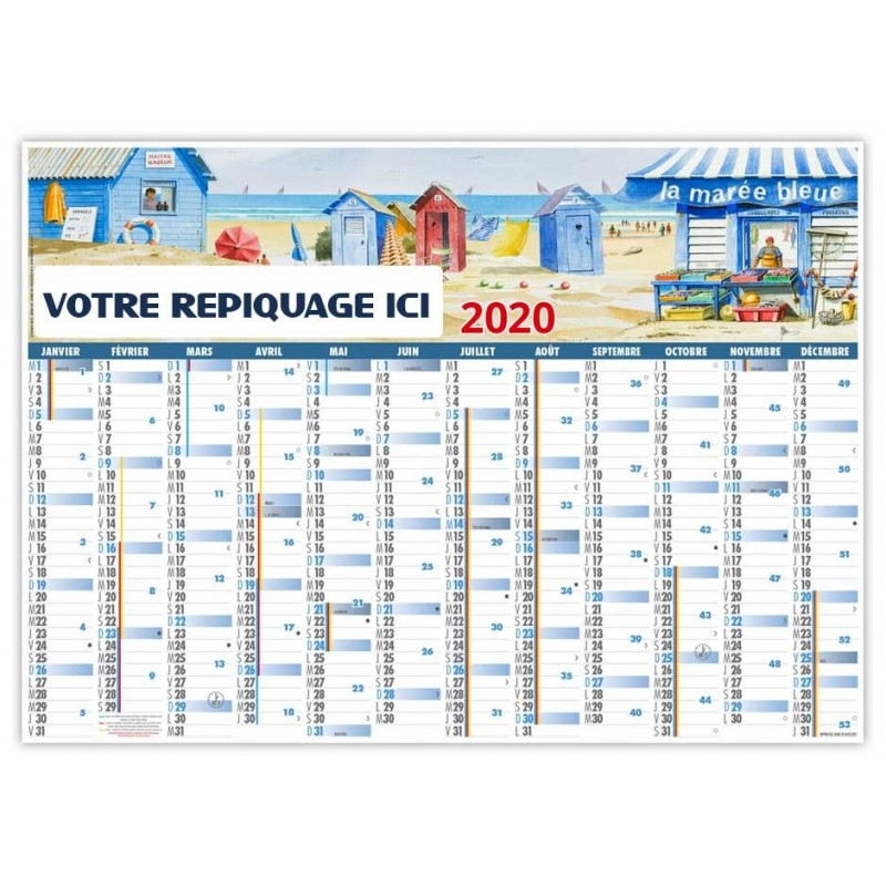 PLANNING ATLANTIQUE 2020 - EFFAÇABLE RIGIDE