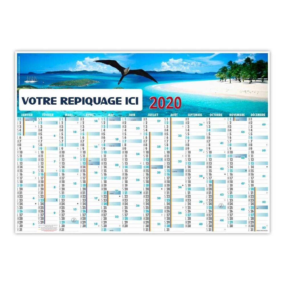 PLANNING CARAÏBES 2020 - EFFAÇABLE RIGIDE