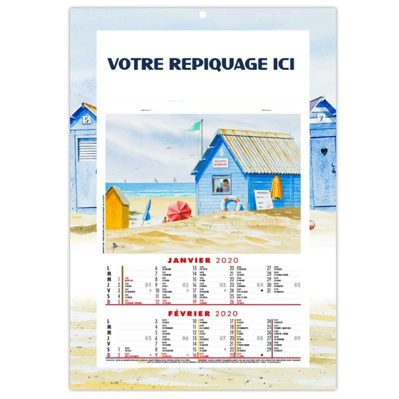CALENDRIER JEAN-ROGER 2020 - AGRAFE 6 FEUILLETS
