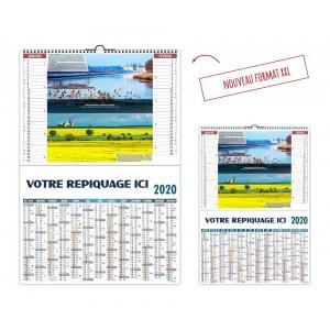 CALENDRIER PAYSAGES FRANCE 2020 - 2 EN 1