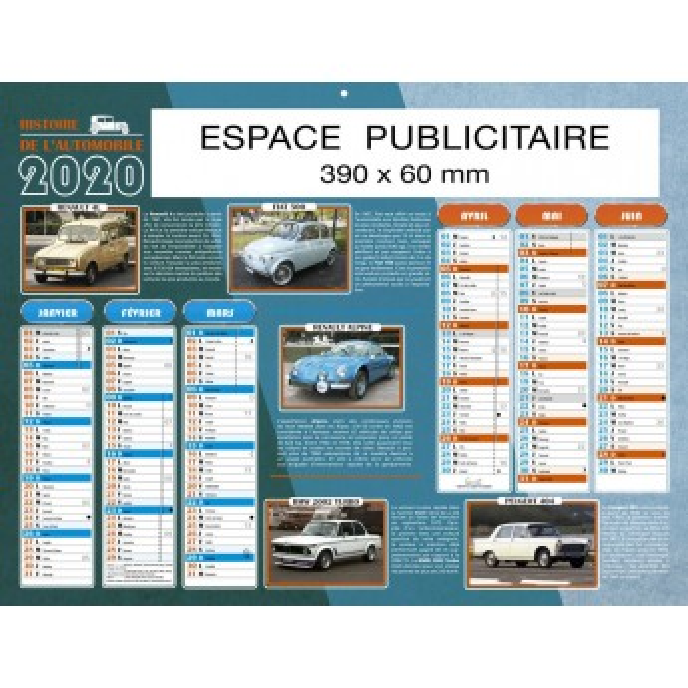 BANCAIRE HISTOIRE AUTOMOBILE 2020 - STANDARD RIGIDE