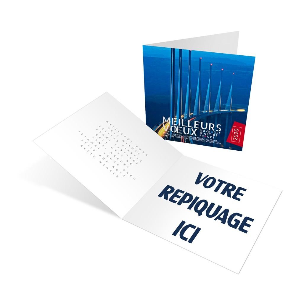 OUVRAGES D'ART - CARTE DE VOEUX 2020