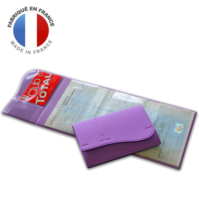 PORTE CARTE GRISE VAGUE 4 VOLETS