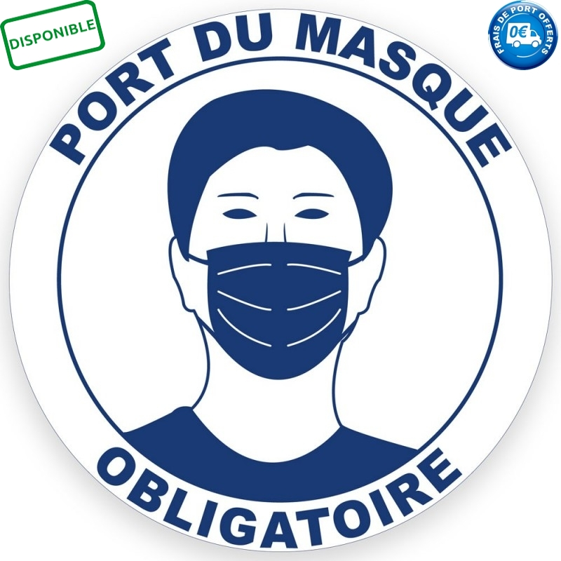 STICKER MASQUE OBLIGATOIRE