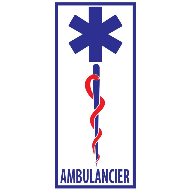 STICKER AMBULANCIER PARE-BRISE
