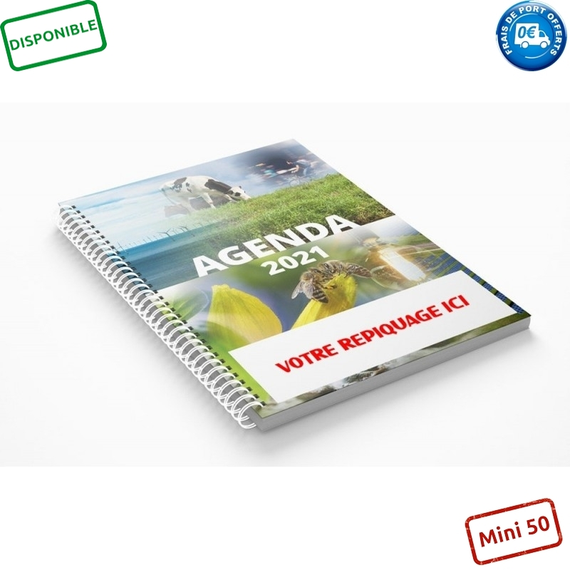 AGRODURABLE 2021 - AGENDA SPIRALE SEMAINIER ILLUSTRÉ