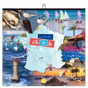 LA FRANCE D'ÎLE EN ÎLE 2021 - MURAL 7 FEUILLETS