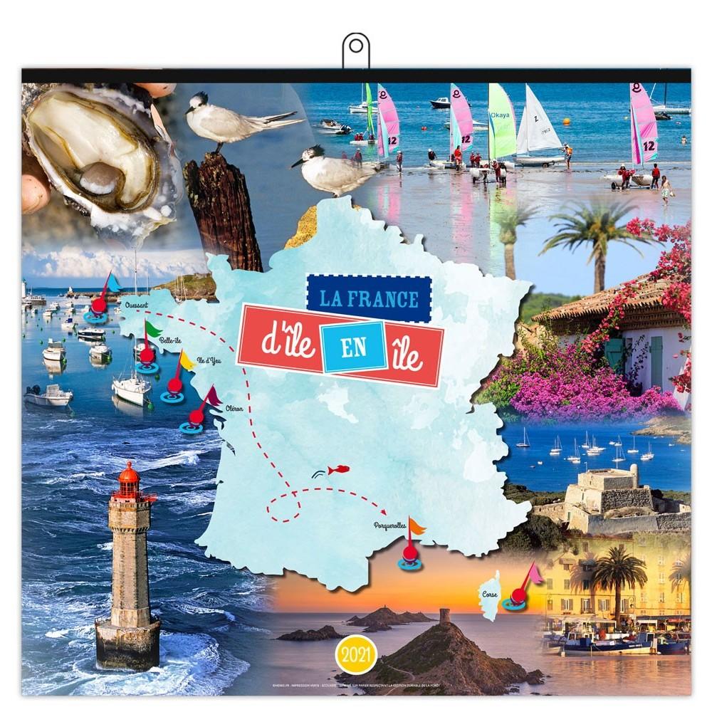 LA FRANCE D'ÎLE EN ÎLE 2021 - MURAL BAGUETTE 7 FEUILLETS