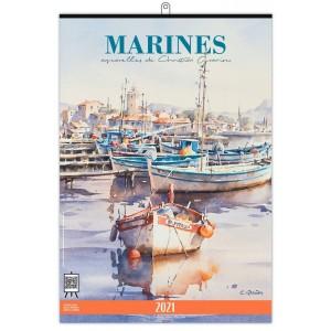 MARINES 2021 - MURAL 7 FEUILLETS