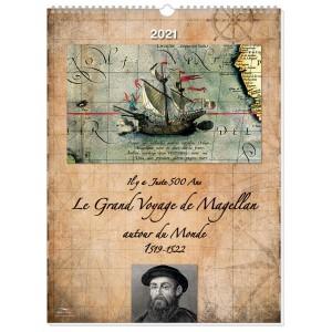 LE GRAND VOYAGE DE MAGELLAN 2021 - MURAL 13 FEUILLETS