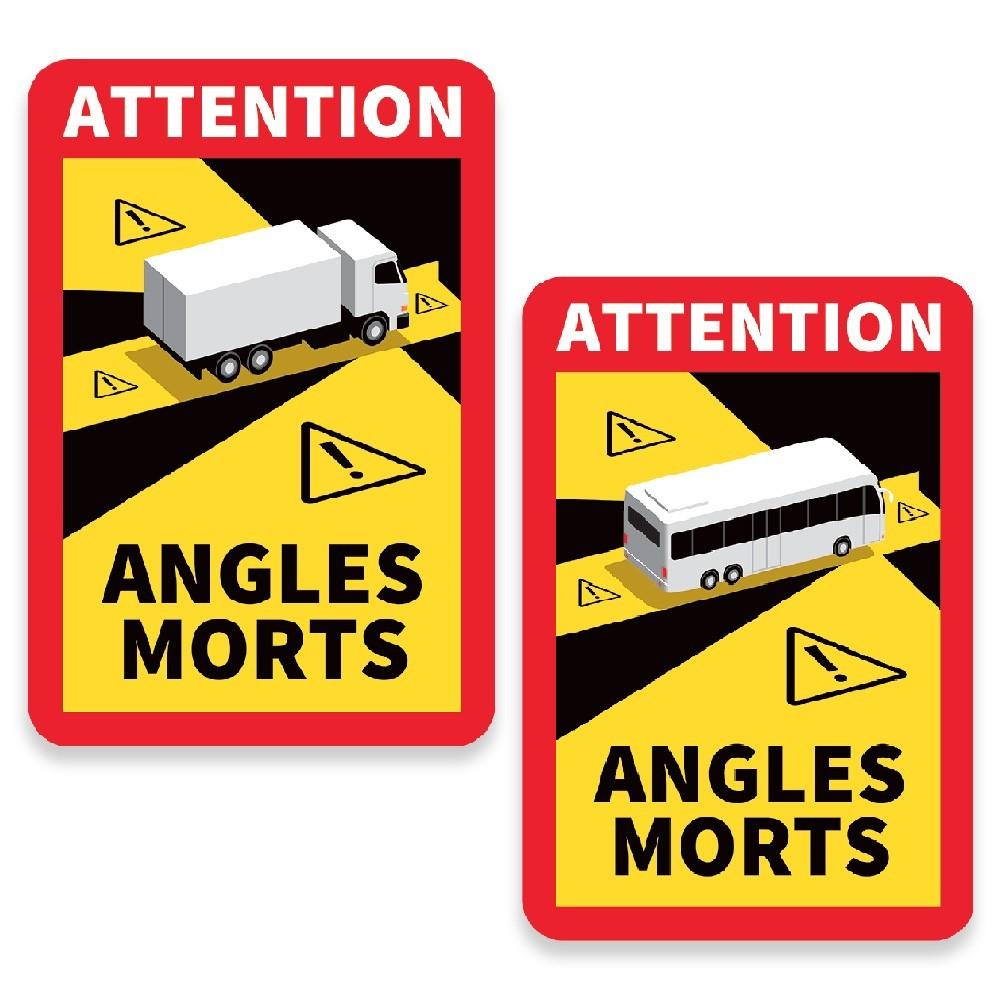 LOT DE 3 AUTOCOLLANTS ANGLES MORTS