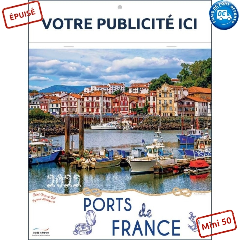 PORTS DE FRANCE 2022 - BLOC ILLUSTRÉ 7 FEUILLETS