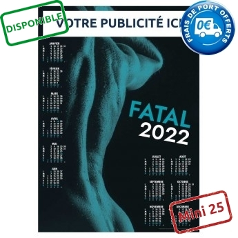 CALENDRIER POSTER FATAL 2022