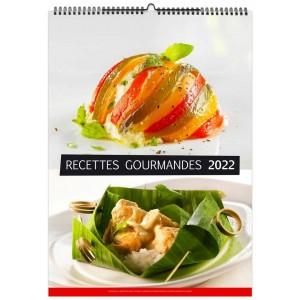 RECETTES GOURMANDES 2022 - MURAL 13 FEUILLETS