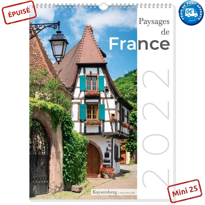 PAYSAGES DE FRANCE 2022 - MURAL 13 FEUILLETS