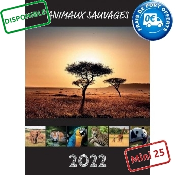ANIMAUX SAUVAGES 2022 - MURAL 7 FEUILLETS