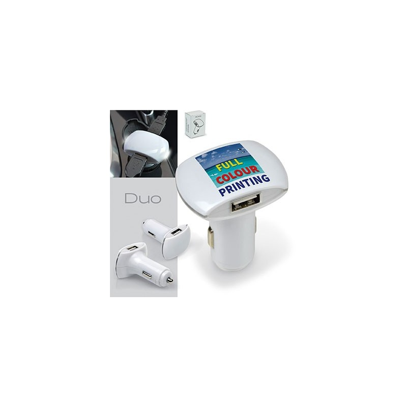 CHARGEUR DUO USB AUTO