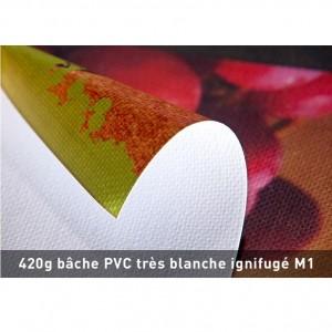 BACHE PVC 420 IGNIFUGEE