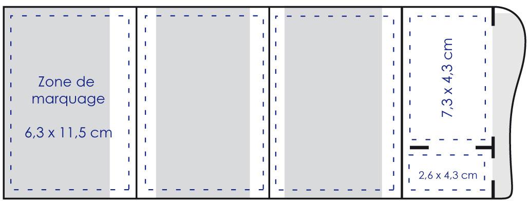 Zone de marquage Porte carte grise vague 4 volets - Le Calendrier Pub