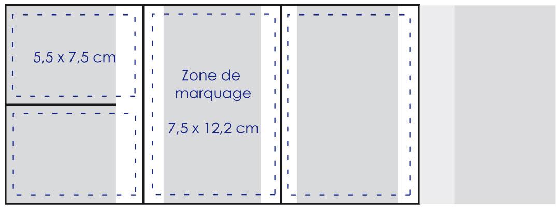 Zone de marquage Porte carte grise 4 volets - Le Calendrier Pub