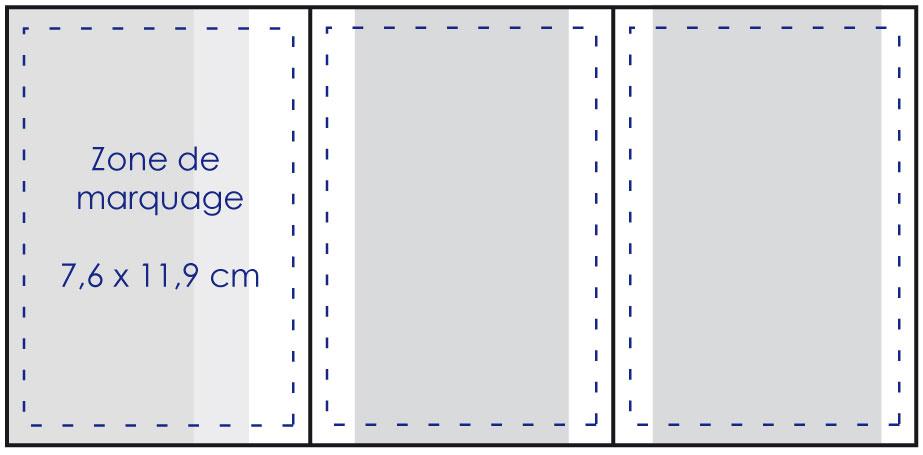 Zone de marquage Porte carte grise 3 volets - Le Calendrier Pub