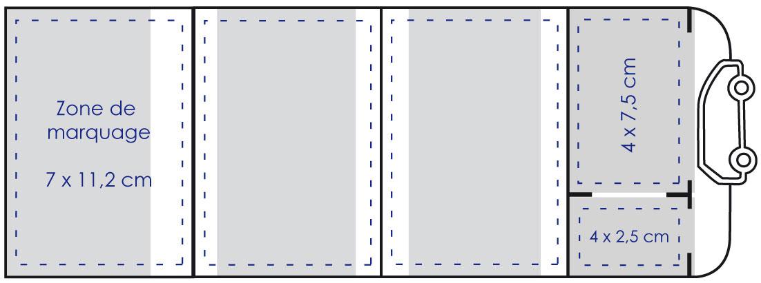 Zone de marquage Porte carte grise 4 volets à découpe auto - Le Calendrier Pub
