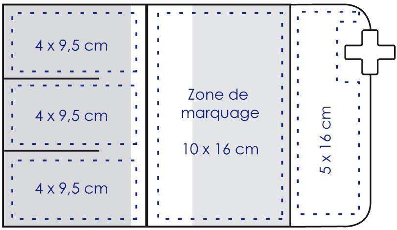 Zone de marquage Garde ordonnance Croix de pharmacie - Le Calendrier Pub