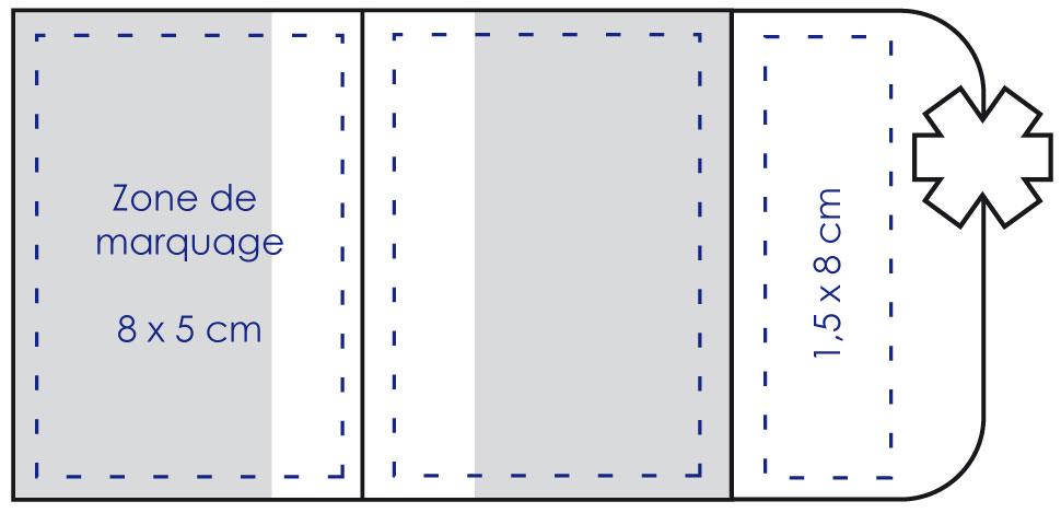 Zone de marquage étui carte vitale croix de vie - Le Calendrier Pub