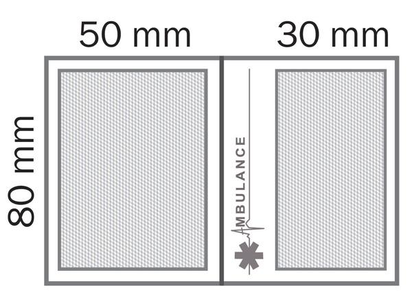 Zone de marquage étui carte vitale double ECG - Le Calendrier Pub