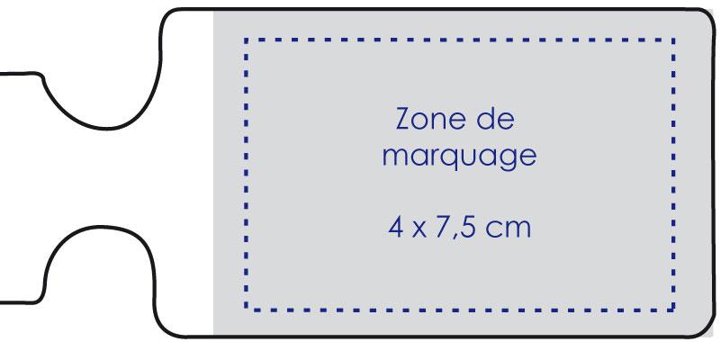 Zone de marquage Etiquette pour bagage - Le Calendrier Pub
