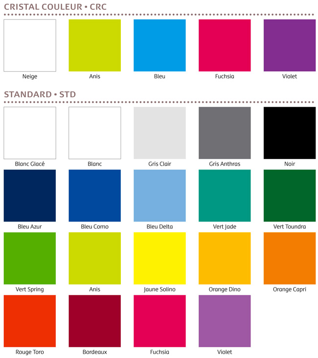 nuancier coloris et matières - Le calendrier Pub