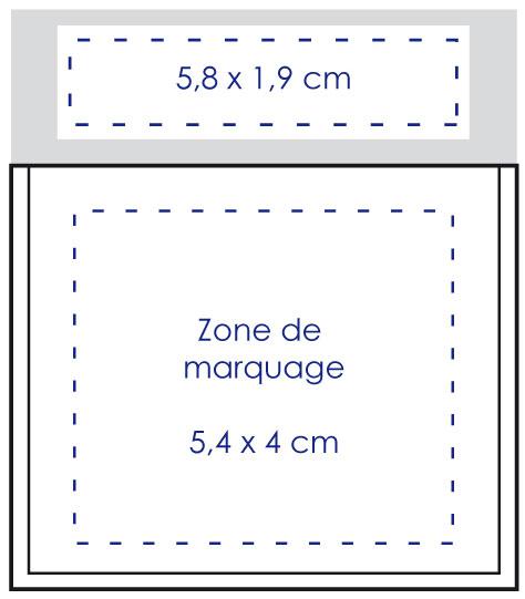 Zone de marquage porte vignette - Le Calendrier Pub