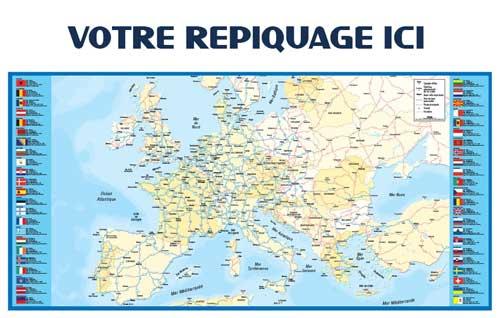 Dos Europe - Bancaire maxi - Le Calendrier Pub