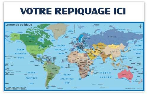Dos Monde Politique - Bancaire maxi - Le Calendrier Pub