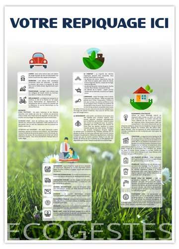 Dos écogestes pour calendrier vertical Marianne - Le Calendrier Pub