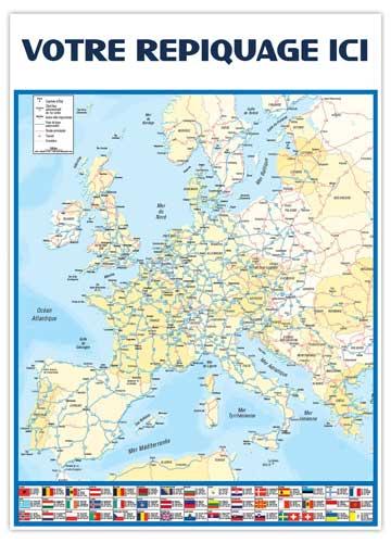 Dos Europe pour calendrier vertical Marianne - Le Calendrier Pub