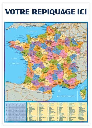 Dos départements pour calendrier vertical Marianne - Le Calendrier Pub