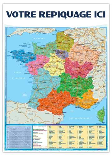 Dos régions pour calendrier vertical Marianne - Le Calendrier Pub