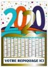 Millenium 2020 - Bancaire rigide vertical non découpé - Le Calendrier Pub