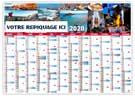 Planning Bretagne - Planning souple effaçable - Le Calendrier Pub