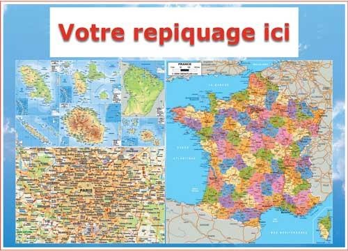 Verso carte départementale - Bancaire Odilon