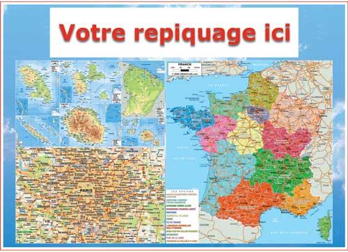 Verso carte régionale - Bancaire Odilon