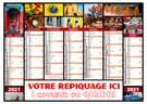 Calendrier bancaire Caméléon medium Midi - Le Calendrier Pub