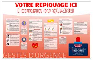 Dos Gestes d'Urgence Bancaire Maxi - Le Calendrier Pub