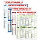 Calendrier bancaire vertical Rigide Marianne - Le Calendrier Pub