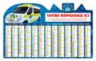Calendrier bancaire Maxi Urgence Découpé - Le Calendrier Pub