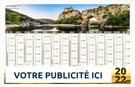 Calendrier bancaire Choix Site Ardéchois maxi rigide - Le Calendrier Pub