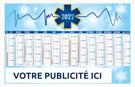 Calendrier bancaire Croix Bleue - Le Calendrier Pub