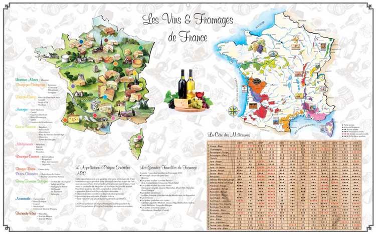 Vins et Fromages de France - Dos Maxi Bancaire - Le Calendrier Pub