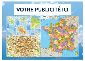 Verso Odilon Carte Routière Départementale - Le Calendrier Pub